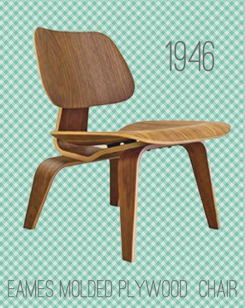 Eames - silla madera curvada - 1946