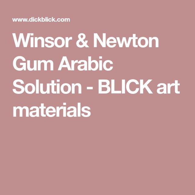 Winsor & Newton Gum Arabic Solution - BLICK art materials