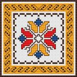 Bulgarian Embroidery pattern  Floral motif and border inspired by the traditional Bulgarian embroidery.   • Published 5 months ago   • 47×47 stitches   • 4 colors