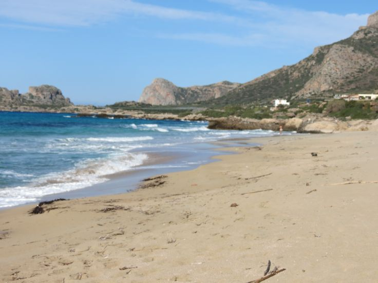 One of the beaches in Crete where I collect seashells for my Mosaic Collages.