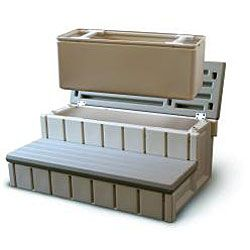 This handy spa step enables you to stow chemicals and other spa/hot tub accessories in its generous storage compartment. Made of durable resin for long-lasting use, this spa step comes fully assembled