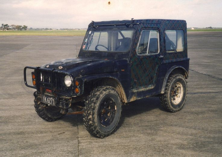 Suzuki LJ50 trials car. Repowered with a Corolla 1300 4k motor and 5 speed gearbox, lifted, 6 pt rool cage, steering brakes.