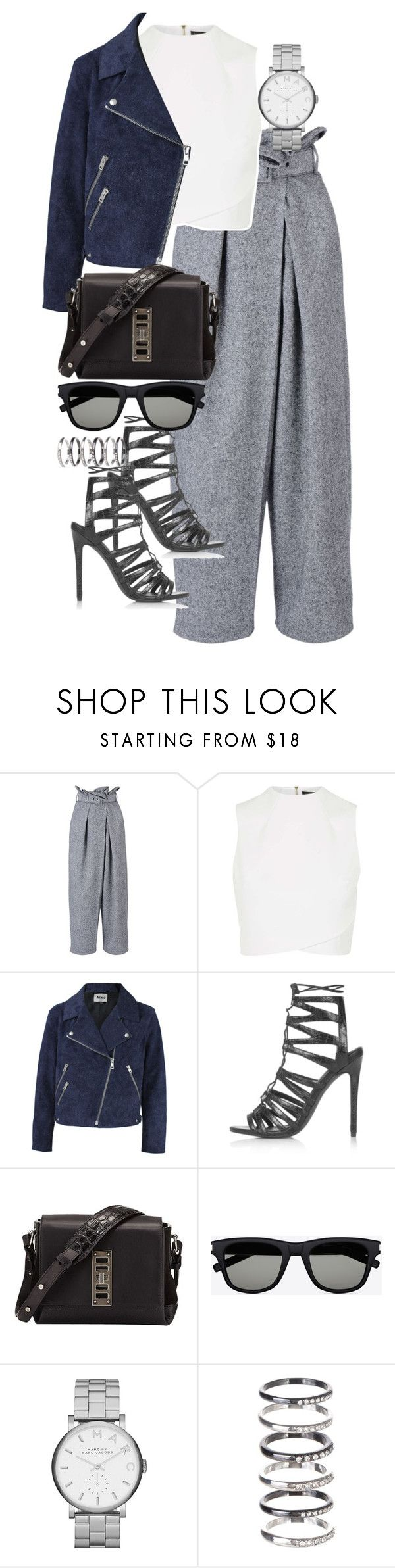 """Untitled #2849"" by angieswardrobe ❤ liked on Polyvore featuring STELLA McCARTNEY, Topshop, Acne Studios, Proenza Schouler, Yves Saint Laurent, Marc by Marc Jacobs and M.N.G"