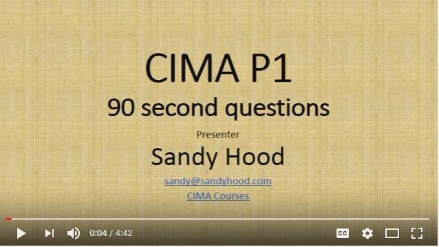 CIMA Mock Exams : CIMA P1 OTQ exam tips for 90 second Questions