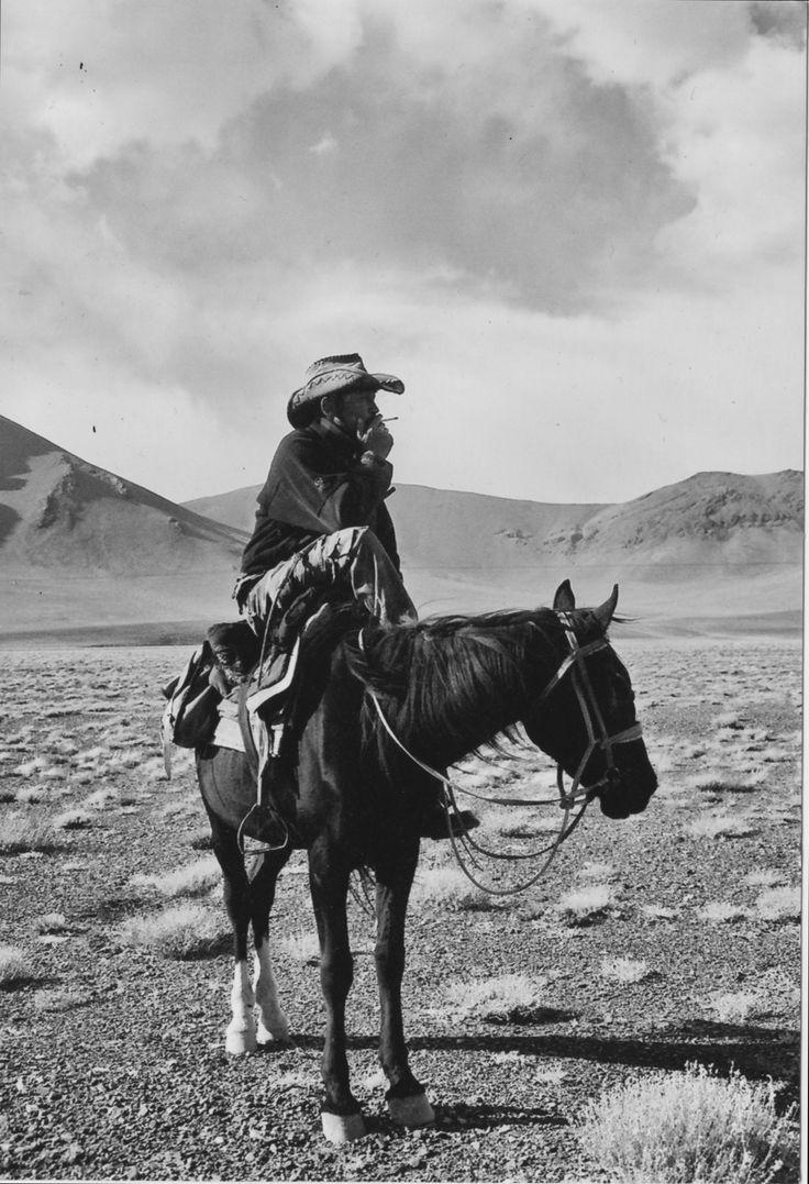 Cowboy Horse Wild West Smoking Desert