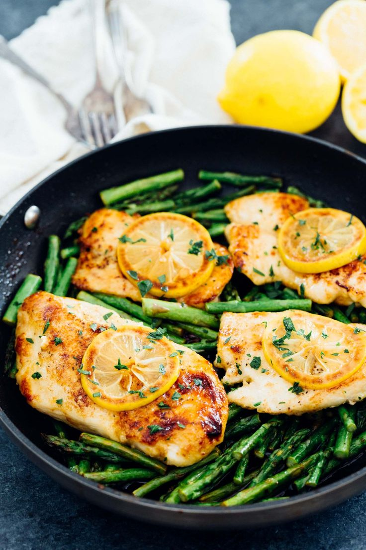 Honey Butter Lemon Chicken with Asparagus | Table for Two | Bloglovin'