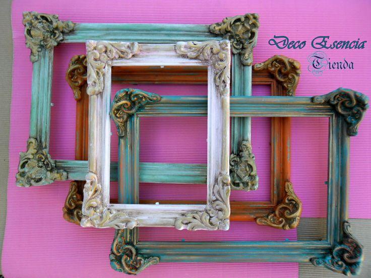 Mejores 8 im genes de marcos vintage en pinterest marcos - Marcos espejos antiguos ...