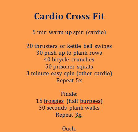 Cardio Crossfit fast workout