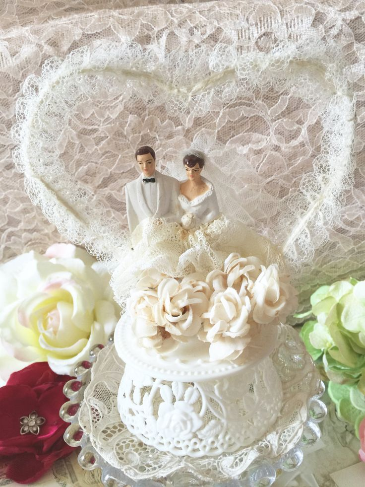 Vintage Cake Topper Heirloom Cake Topper Nostalgic