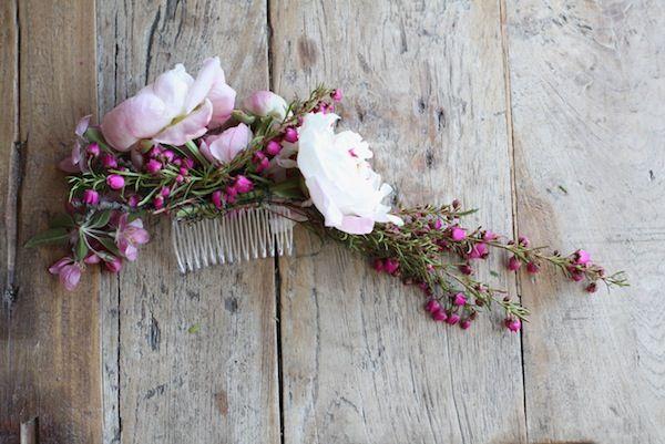 DIY Flower Hair Comb by Sarah Winward
