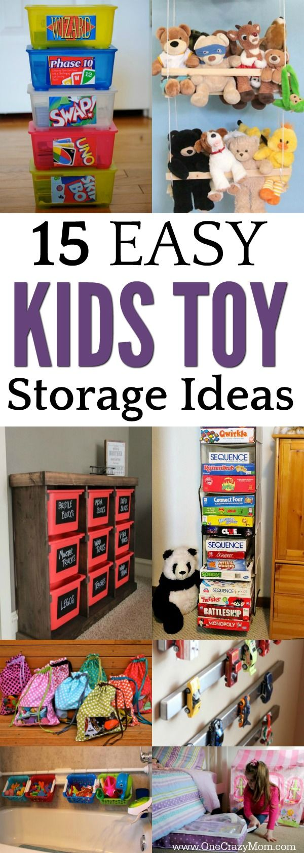 Easy Kids Toy Storage Ideas 15