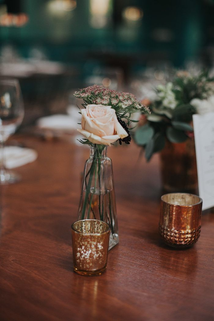 This wedding at the Fig House combined vintage décor with modern style for a lovely celebration in the heart of Los Angeles.