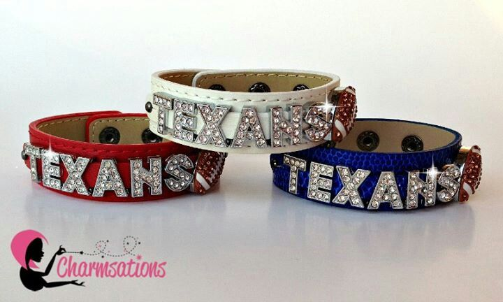 Texans bracelet #bling #sparkle #createyoursparkle #jewelry #personalizedaccessories #glitter #Texas #texans #football
