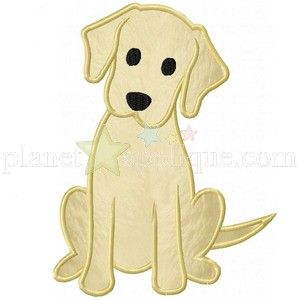 Labrador Puppy Applique Design