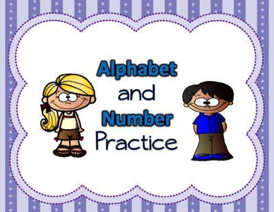 Alphabet & Number Trace from Texas Teacher Diva on TeachersNotebook.com -  (2 pages)  - Alphabet & Number Trace