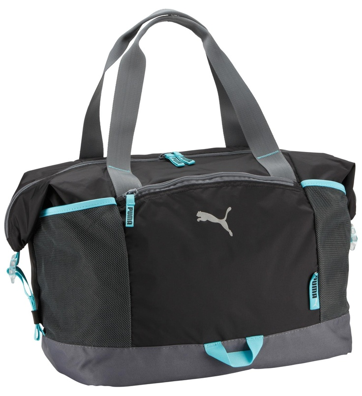 Blue and Black Puma Bag Sac Fitness Workout pour femme Puma Bleu et Noir