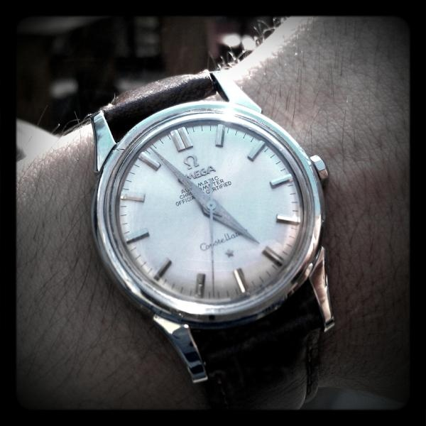 Say hello to my little friend. 1962 Omega Constellation I just got last week.