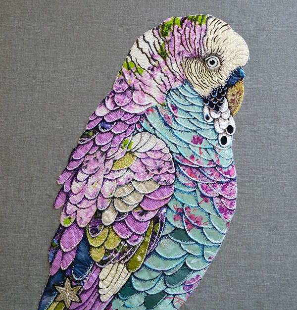 Textile birds by Zara Merrick.