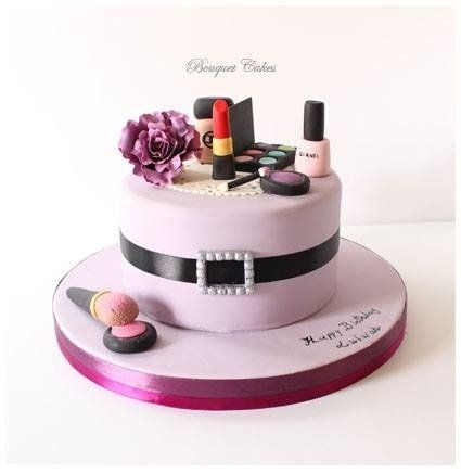 Makeup cake - by BouquetCakes @ CakesDecor.com - cake decorating website
