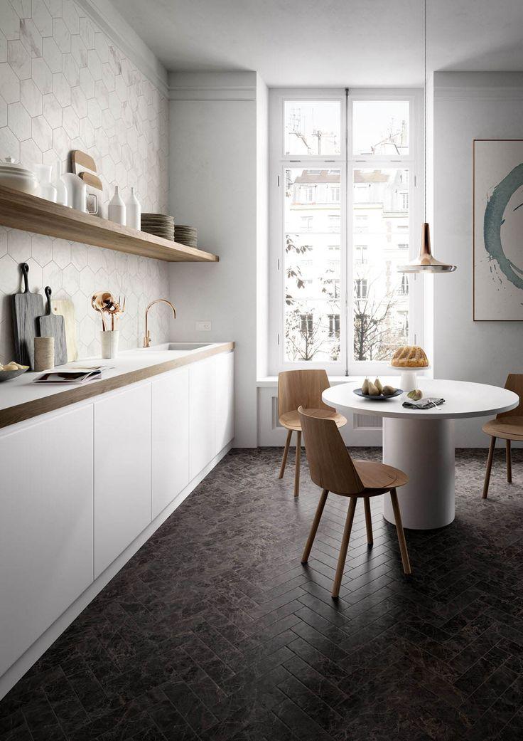 Fliesen für die Küche: Gestaltungsideen mit Keramik und Feinsteinzeug - Marazzi 7090
