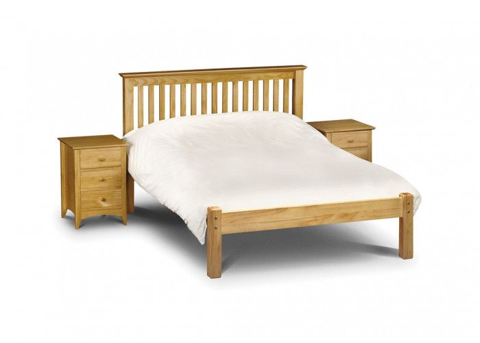 Bonsoni Berlin Bed Pine 4ft Small Double Bed Frame Low Foot End  Substantial posts and capping combine with a solid pine slatted base to ensure an incredibly robust and durable bed frame.  https://www.bonsoni.com/berlin-bed-pine-4ft-small-double-bed-frame-low-foot-end