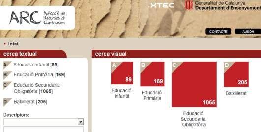 Arc. Portal amb activitats competencials. http://apliense.xtec.cat/arc/