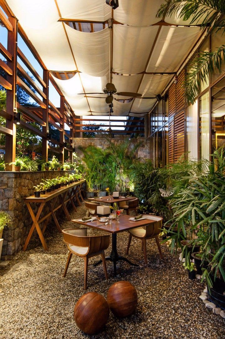 Looking For Restaurant Cafe Inspiration Check Out The Best Garden Outdoor Bar Patio Seating Wood Fu Cafe Design Inspiration Cafe Design Coffee Shop Design