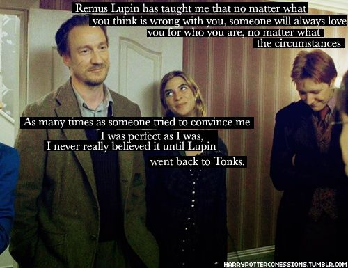 Remus Lupin. I love Tonks look in this picture, and Remus looks just so happy.:)