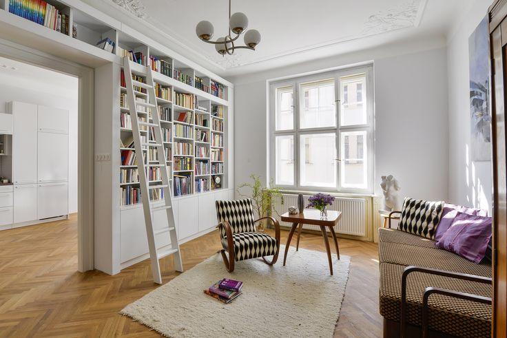 retro modern flat, Halabala solitaires