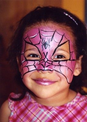 Spider girl face paint