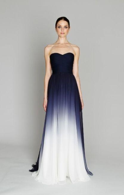 Hochzeitskleid farbig blau