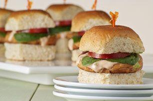 Mini Salmon Burgers #kraftrecipes