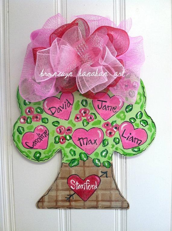 Valentine Family Tree Door Hanger - Bronwyn Hanahan Original. $55.00, via Etsy.