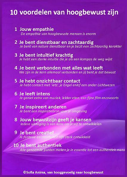 10 voordelen van hoogbewust zijn