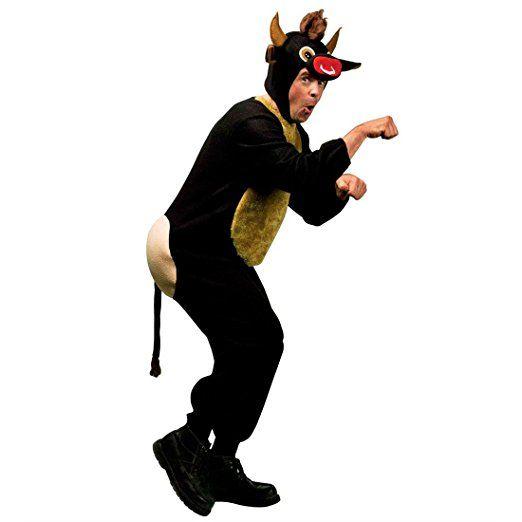 Witziges Kuh Kostüm Stier Herrenkostüm XL 54 Stierkostüm Bulle Fasching Kuhkostüm Herren JGA Party Junggesellenabschied Ochse Tierkostüm Karnevalskostüm Tier Mottoparty Verkleidung Karneval Kostüme Männer Mottoparty karneval kostüm gruppe kostüm karneval verkleidung fasching basteln faschingskostüm bekleidung mode fasching