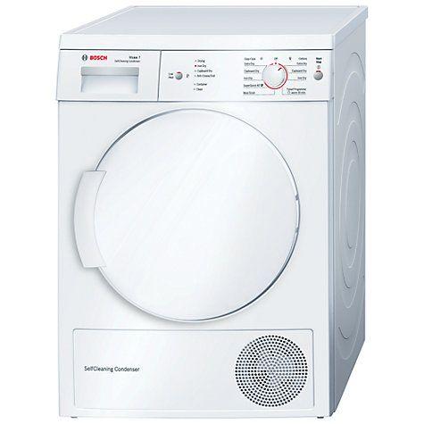 Buy Bosch WTW84161GB Sensor Heat Pump Condenser Tumble Dryer, 7kg Load, A++ Energy Rating, White Online at johnlewis.com