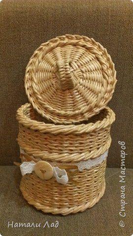 Поделка изделие Плетение наборчик светленький Трубочки бумажные фото 4