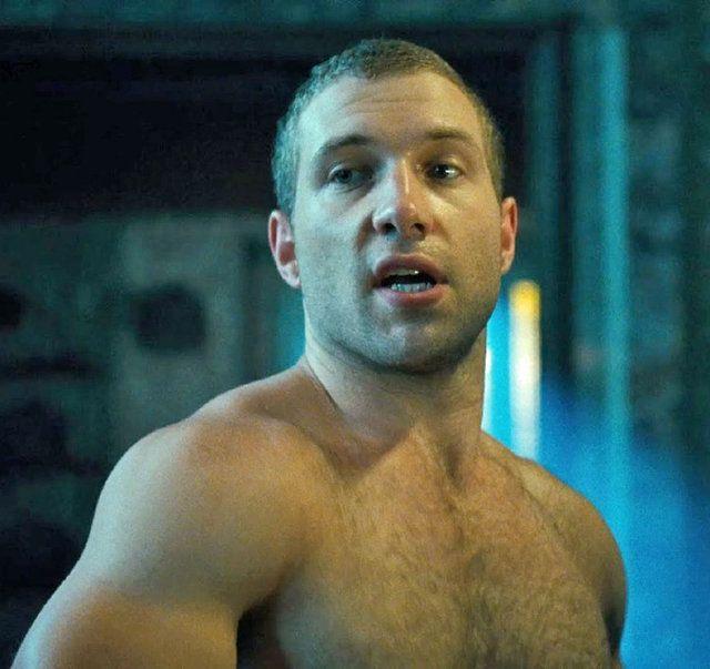 jai courtney shirtless hairy chest