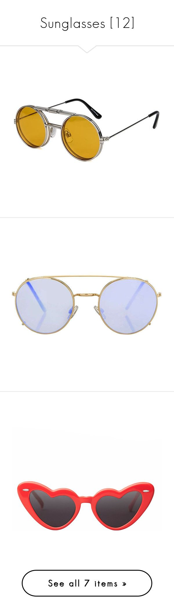 """""""Sunglasses [12]"""" by gdavilla ❤ liked on Polyvore featuring accessories, eyewear, sunglasses, glasses, silver, silver lens sunglasses, clear sunglasses, silver aviators, aviator sunglasses and flip up sunglasses"""