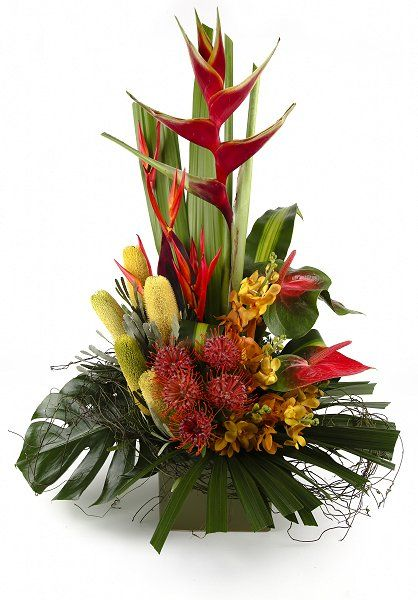 best tropical arrangements images on, Natural flower