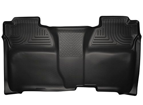 Husky Liners 2nd Seat Floor Liner Fits 14-17 Silverado/Sierra Crew:   WeatherBeater Series - often referred to as floor mats. Husky Liners WeatherBeater Floor Liners are engineered to fit the complex contours of your vehicle's carpeted floor boards, trunks, and cargo areas. The Husky Floor Liners form-fit design and raised containment walls will help keep your carpet clean even in the worst weather conditions. Fluid containment ribs and treads channel messes away from your shoes. This ...