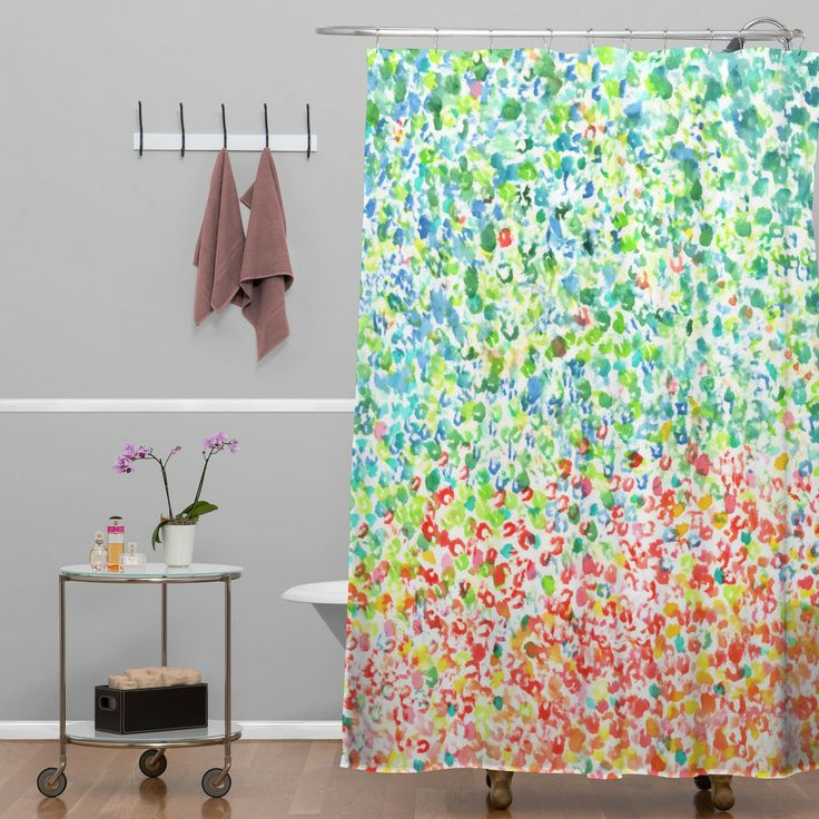 laura trevey cool to warm shower curtain deny designs home accessories