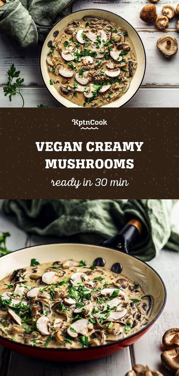 Vegan Creamy Mushrooms