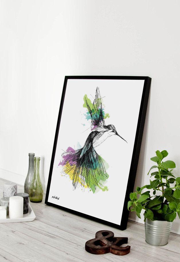 Plakat z grafiką: Rajski ptak - posterilla - Dekoracje ścienne