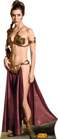 Cutout:Star Wars-Princess Leia Slave Girl Lifesize Standup