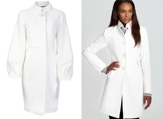 Мода картинки пальто белого цвета