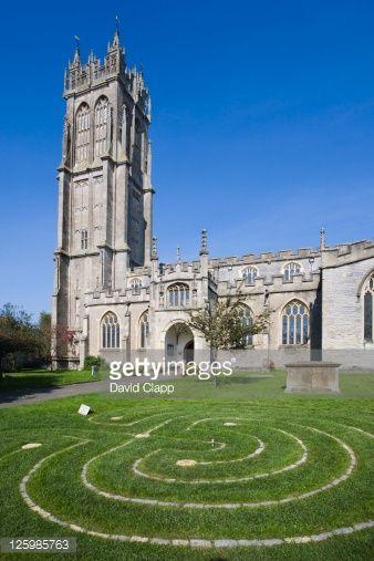 Stock Photo : St John's Church, Glastonbury, Somerset, England