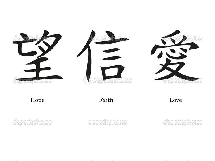 Chinese symbols for love; hope and faith | Tattoo ideas ...