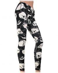 GALS :: BOTTOMS :: LEGGINGS - SugarSkulls stocks Tattoo Inspired Alternative Clothing & Accessories