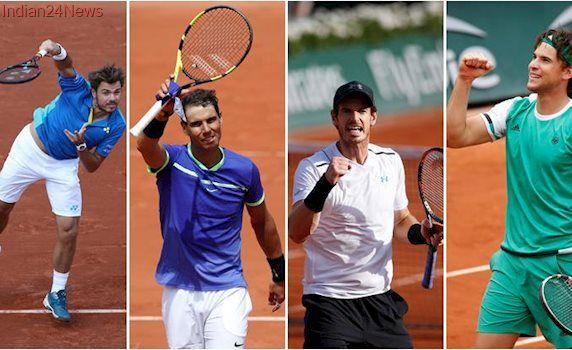 French Open 2017 Live score, men's semi-finals: Rafael Nadal, Andy Murray, Stan Wawrinka and Dominic Thiem eye final berth